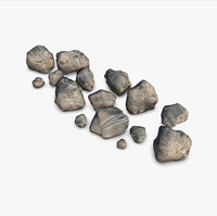 3d rocks elements realistic model