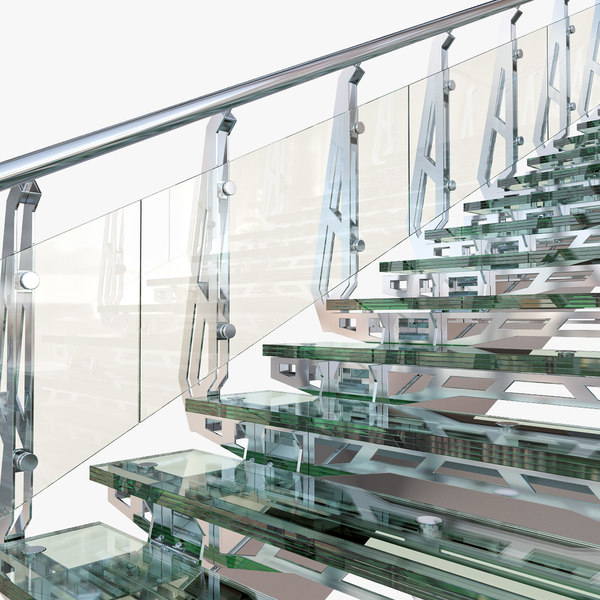 3d steel staircase - Steel Staircase... by Arkady Gaidar
