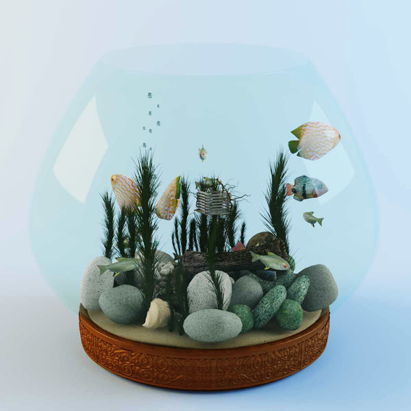 3ds max fish aquarium - Aquarium... by kandrL