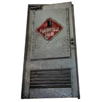 metal door - flammable 3d 3ds