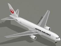 3dsmax b 767-300 er jal
