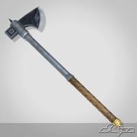 3d model medieval axe 2