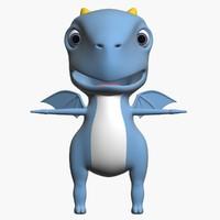 baby dragon 3d obj