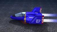 blue falcon f-zero 3d model