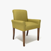 3d restaurant armchair bergamo model