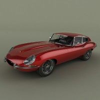 3ds max e-type coupe