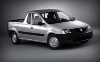 dacia logan pick-up 3d max