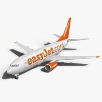 3d c4d easyjet boeing 737-700