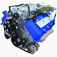 2013 shelby gt500 v8 engine 3d xsi