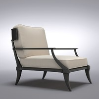 restoration hardware - lounge chair 3d model