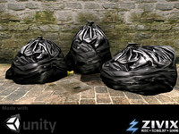 Game Assets: Low poly Garbage Bags