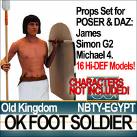 3ds props set daz egyptian