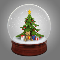 3d snowglobe snow globe model