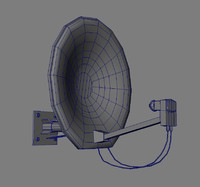 satellite dish 3d obj
