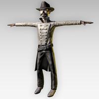 3d western cowboy
