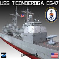 USS Ticonderoga class cruiser CG-47 with SH60