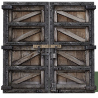 3d solid double doors model
