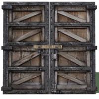 3d solid double doors model