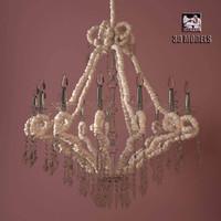 3d model visionnaire aslan chandelier