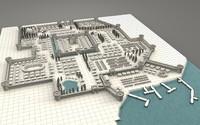medieval city 3d model