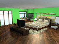 3d model interior master room