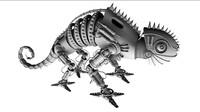 robot chameleon 3d obj
