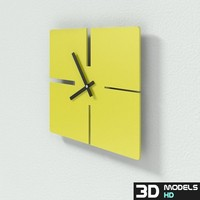 free lines clock 3d model