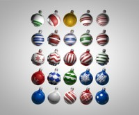 maya christmas ornament pack