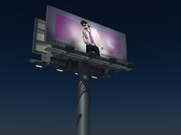 64 Sheet two side 3d billboard model
