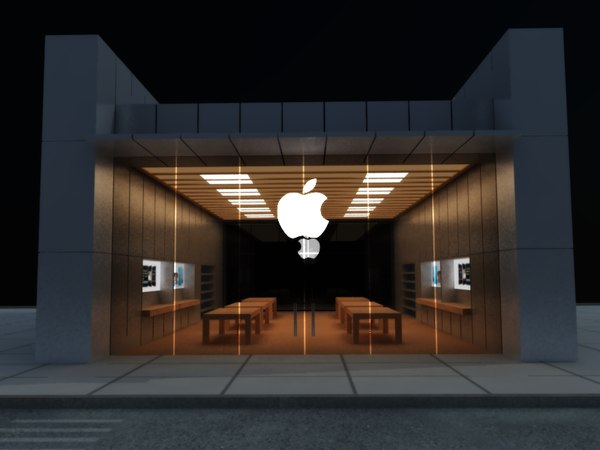 3d apple store model - Apple Store 3d Model... by zorroman41