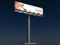96 sheet billboard advertisement 3d model
