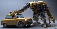3D Model Robot Trabant