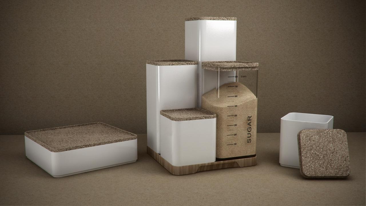 stelton rigtig storage boxes 3d max