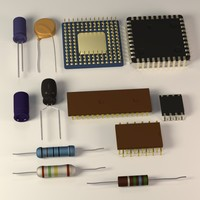 3d electronic chips capacitors