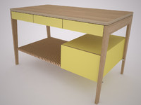mint desk 2 3d max