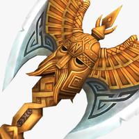 warhammer axe waraxe 3d model