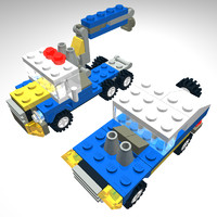 Lego engineering truck