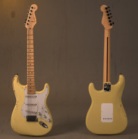 3d custom fender stratocaster guitar model
