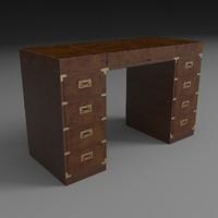 campaign desk 3d dxf