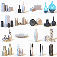 Collection of photorealistic vases