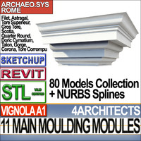 3ds modules architecture mouldings stl