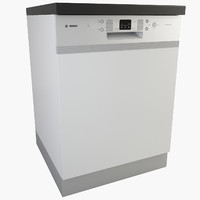 3d model real dishwasher kitchen appliances