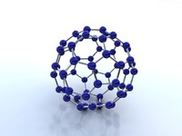 buckminsterfullerene molecule 3d model