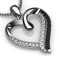 3d stl pendant heart model