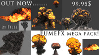 3d model fume fx flamethrower explosions