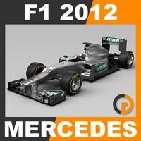 F1 2012 Mercedes W03 - Mercedes AMG Petronas F1 Team