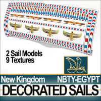 Ancient Egypt NK Decorated Sails