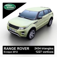 3d model 2012 range rover evoque