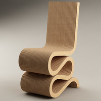 3d chair gehry wiggle