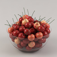 3d cherries fruit model